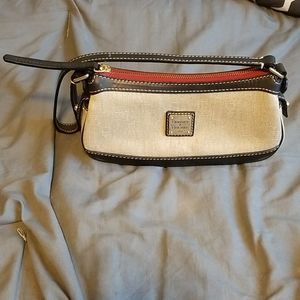 Dooney & Bourke Patterned Purse in Taupe/Black